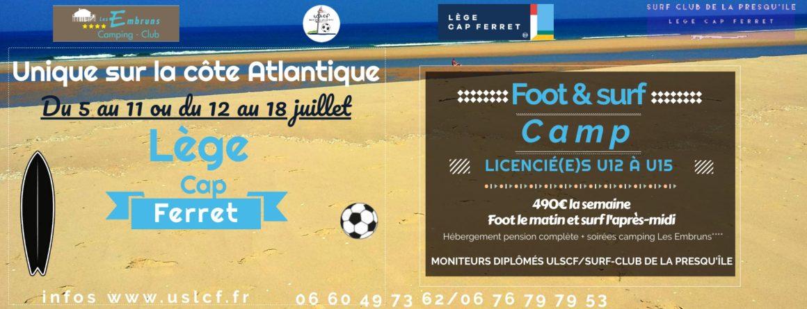 REPORTÉ – Un stage foot & surf cet été ? Événement unique en France