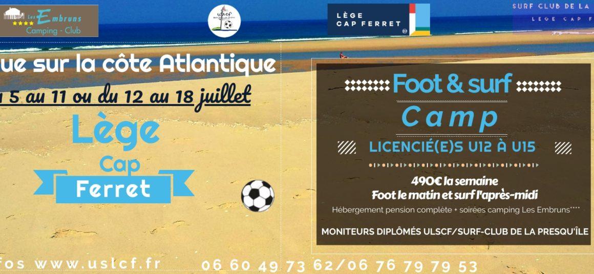 Un stage foot & surf cet été ? Événement unique en France