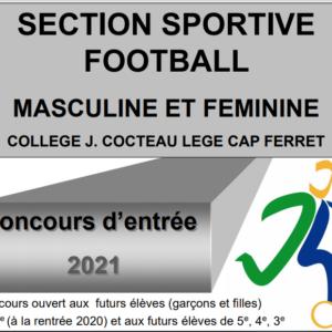 Inscrivez-vous au concours Sports-Études Football